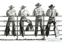 Western Artists Paintings   WESTERN ART, COWBOYS, FINE ART, PRINT, COWBOY ART, RODEO COWBOYS ...