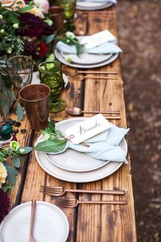 Warm fall table sett