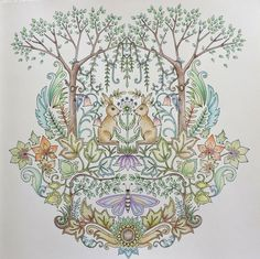 Johanna Basford Enchanted Forest Coloring By Me