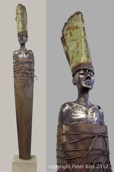 """Peter Kiss """"Can't Slow Me Down"""" Bronze (lost wax process), wood, concrete"""