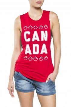 510658c9 Girls 'Canada' Graphic Tank Twist Open Back from Bluenotes Canada Day, Graphic  Tank