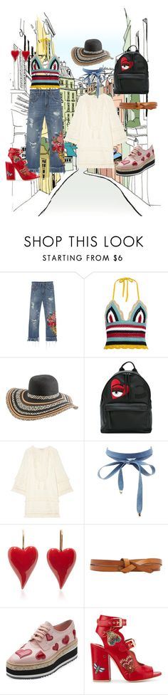 """""""Teenager boho artist"""" by ewa-wind ❤ liked on Polyvore featuring Dolce&Gabbana, RED Valentino, Rip Curl, Chiara Ferragni, Rachel Zoe, Charlotte Russe, Isabel Marant, Prada and Laurence Dacade"""