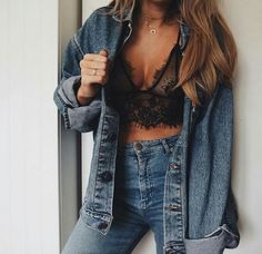 Canadian tuxedo with a twist