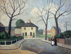 """Good morning & thank you: that is most kind. It is overcast here this morning but, with luck,it might brighten up later. Here's one that I hope you'll like: this is ""Halbutt Street, Dagenham"" by Elwin Hawthorne which is in the collection Camden London, Camden Town, London Art, East London, Bow Art, Urban Painting, Group Pictures, Art Uk, Your Paintings"