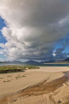 Horgabost, a view of the North Harris Hills. Isle of Harris. Scotland.