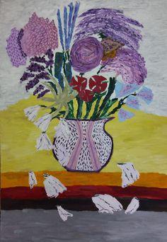 Martwa natura 4 to obraz zainspirowany stylem awangardowym i przedstawieniami realistycznymi. Różne odcienie purpury nadają obrazowi określonego znaczenia.  Obraz do kupienia na: https://www.artmakers.pl/artwork/mateusz-zeniuk/martwa-natura-4