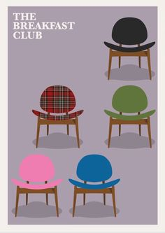 The Breakfast Club (1985) ~ Minimal Movie Poster by David Peacock #amusementphile