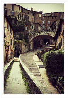 Perugia, Italia! I've walked those steps so many times.. Mi manchi Perugia!