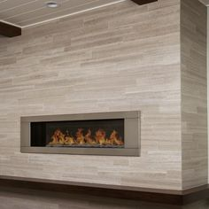 limestone tile fireplace surround - Google Search