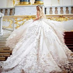This haute couture wedding dress is a pricey fashion piece. But our dress design firm can make a similar #replica for much less get details & pricing on custon wedding dress designs when you email us from www.dariuscordell.com