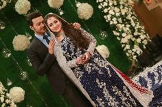 Ahmed Hassan and Nosheen Ibrahim are famous Pakistani celebrity. Ahmed Hassan and Nosheen Ibrahim Valima Photo Shoot luxurious Valima formal procedure of Ahmed Hassan and Nousheen Ibrahim Walima, Beautiful Celebrities, Beautiful Bride, Floral Tie, Designer Dresses, Sequin Skirt, Dream Wedding, Reception, Celebs