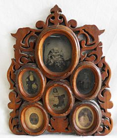 Antique Tintype Photograph Display Frame Carved Fancy Carved Folk Art Victorian…