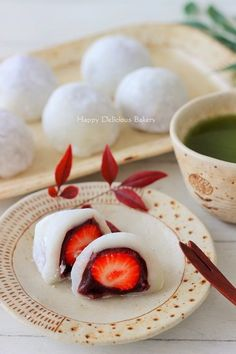 Cute Food, Yummy Food, Tasty, Real Food Recipes, Vegan Recipes, Types Of Cakes, Asian Desserts, Japanese Sweets, Mochi