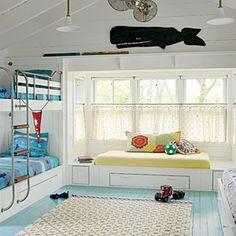 Dreamy Massachusetts Cottage | Playful Bunk Room | CoastalLiving.com