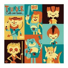 Retro illustration .... Thundercats!