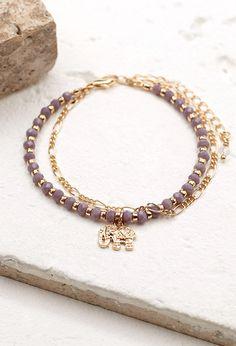 Layered Elephant Charm Bracelet | Forever 21 - 1000078348