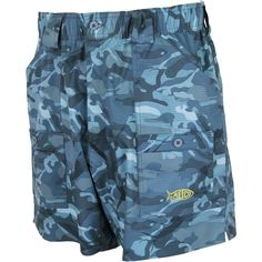 Original Fishing Shorts in Blue Camo by AFTCO