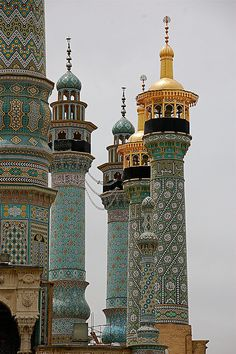 Minarets in Qom, Iran. Explore Iran with theculturetrip.com