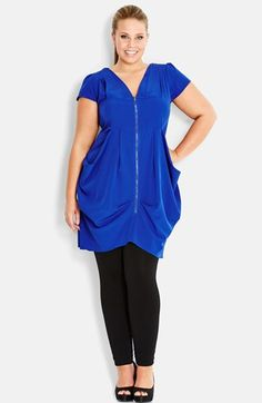 8407309e69 City Chic Zip Front Tunic (Plus Size) available at  Nordstrom Curvy Fashion