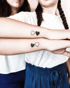 15 Tattoo Designs For Inseparable Sisters - GosteiSalvei - 15 Tattoo Designs For Inseparable Sisters – GosteiSalvei - Unique Sister Tattoos, Matching Best Friend Tattoos, Sister Tattoo Designs, Matching Tattoos, Unique Tattoos, Small Tattoos, Tattoos For Sisters, Flower Tattoos, Bff Tattoos