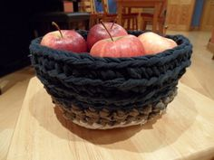 Up-Cycling From T-Shirts to a Basket