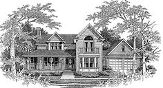 Queen Anne House Plan with 2448 Square Feet and 4 Bedrooms(s) from Dream Home Source | House Plan Code DHSW63276