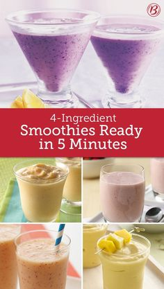 Smoothie Recipes With only 5 minutes and four ingredients, there's really no longer a good excuse to buy smoothies rather than DIY. - With only 5 minutes and four ingredients, there's really no longer a good excuse to buy smoothies rather than DIY. Smoothie Bowl Vegan, Smoothies Vegan, Smoothie Proteine, Apple Smoothies, Easy Smoothies, Breakfast Smoothies, Homemade Smoothies, Smoothie Recipes For Diabetics, Ninja Smoothie Recipes