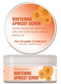 WHITENING APRICOT SCRUB captures the secret of naturally beautiful skin. Apricot beads gently exfoliate the skin and remove the dead skin cells and black heads without drying your skin. It's Natural Whitening ingredients moisturize and provide nourishment to the skin for a healthy glow and a brightening skin.