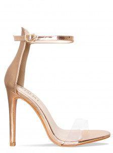 d78dcfeb45a Amaya Rose Gold Clear Barely There Heels