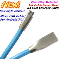 2A 1M Zinc Alloy Metal TPE Cord Data Sync Wire Charger