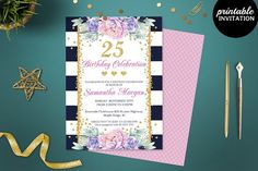 Birthday Girl Invitation Template by Incredible Greeting Cards on @creativemarket