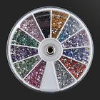Nail Art 1.5mm 3600pcs Rhinestones Glitter Decoration 3D Tips Diamond Gem Wheel