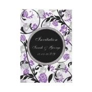 A huge collection of matching #violet #purple #wedding #invitations and #stationery on this link  http://www.zazzle.com/blessedwedding/gifts?cg=196421993031492643