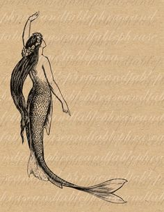 Image result for vintage mermaid
