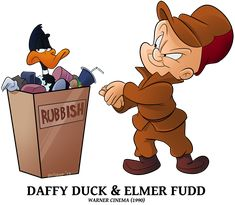 Advertise - Daffy Duck n Elmer Fudd by BoscoloAndrea on DeviantArt Looney Tunes Characters, Classic Cartoon Characters, Looney Tunes Cartoons, Classic Cartoons, Disney Cartoons, Tweety, Elmer Fudd, Merrie Melodies, Old School Cartoons