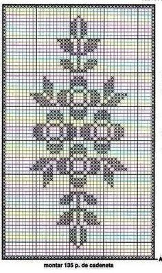 This Pin was discovered by Seb Crochet Lace Edging, Crochet Chart, Crochet Doilies, Crochet Stitches, Crochet Patterns, Cross Stitch Borders, Cross Stitching, Cross Stitch Embroidery, Cross Stitch Patterns