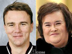 2012 NHL Playoffs Separated at Birth  Marek Zidlicky - New Jersey Devils defenseman  Susan Boyle - singer    HAHAHAHAHA