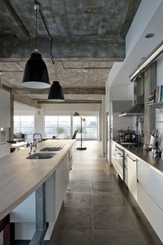 A loft apartment in a former factory in London designed by New Zealand-born architect William Tozer