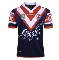 168c49a7f5c 2017-18 Australia Roosters Home Black Thailand Rugby Shirt Panthers Nrl,  Newcastle Knights,