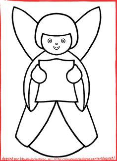 Ange de Noël : gabarit pour créer un ange en bois