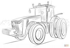 s dessin coloriage de tracteur claas in 2020