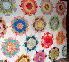 Rose Star Block Quilt Top by Dee - tutorial here: http://summerfete.blogspot.com.au/2012/01/rose-star-tutorial.html