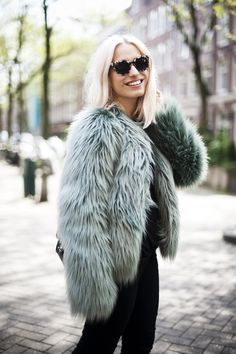 furry fab. #YaraMichels in Amsterdam. #ChapterFriday