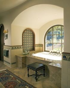 Spanish Tile Bathroom Ideas For