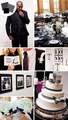 Jet Black works great paired with Ivory, Champagne, Pink, Charcoal and Plum