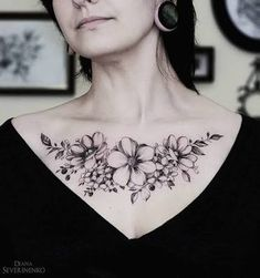 Image result for chest tattoos for women