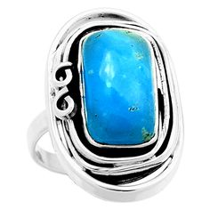 Smithsonite 925 Sterling Silver Ring Jewelry s.9.5 6751R