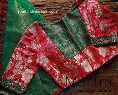 Maggam Work Pattu Saree Blouse Designs – South India Fashion Latest maggam work pattu saree blouse designs by Mantra - the design studio. designer blouse for silk sarees, maggam blouse patterns 2019 Brocade Blouse Designs, Pattu Saree Blouse Designs, Simple Blouse Designs, Stylish Blouse Design, Designer Blouse Patterns, Pattern Blouses For Sarees, Brocade Blouses, Saree Blouse Patterns, Lehenga Blouse