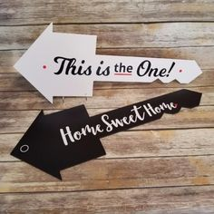Double Sided This is the One!/Home Sweet Home - House Key Shaped Testimonial Prop #realtorlicense