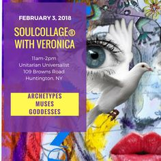 SoulCollage®  Workshop with Veronica:  Exploring how Archetypes, Muses and Goddesses influence our passions and creative pursuits.
